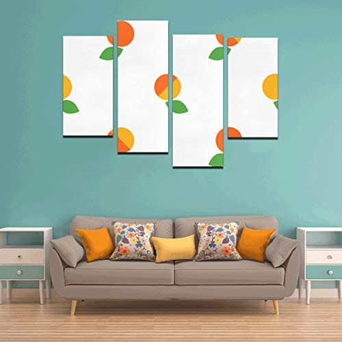 Zemivs 4 Stücke Outdoor Wandfarbe Aprikose Cartoon Obst Wandkunst Frauen Kein Rahmen Wohnzimmer Büro Hotel Wohnkultur Geschenk