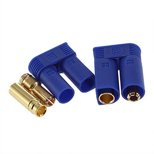 1 Unidades Ec5 Conectores de Bala Adaptadores de enchufes Macho/Hembra Losi Style 5Mm al por Mayor - Azul