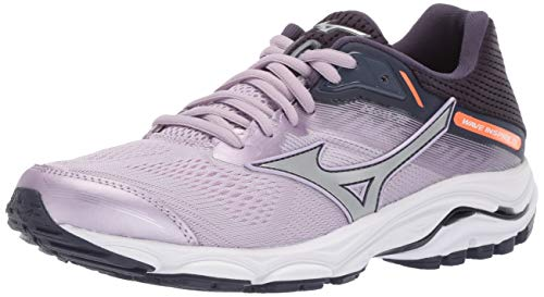 Mizuno Women's Wave Inspire 15 Running Shoe, Lavender Frost-Silver, 8.5 B US