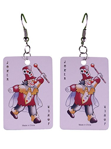 Ohrringe Ohrhänger Hänger Karte Kartenspiel Joker leicht am Ohr 8293