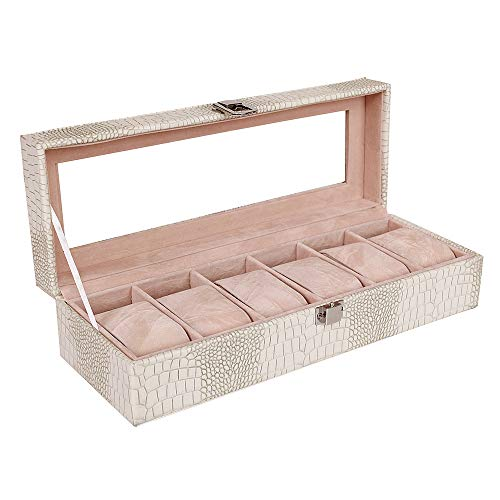 Watch Box 6 Grids,BS PU Faux Lea...