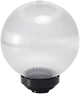 Improvhome Gate Light Unbreakable Prismatic Globe Lining Clear Color Round Shape (8 Inch)