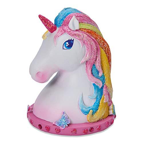 Wobbly Jelly - Hucha de Unicornio mágico para niños - Hucha Infantil Brillante Pintada a Mano