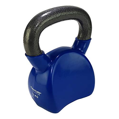 Tunturi Kettlebells Pesa Rusa Vinilo, Unisex Adulto, Blue, 1