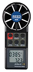 REED Instruments 8906 Vane Thermo-Anemometer, CFM (Air Volume)