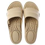 DFFH - Pantofole massaggianti per piedi, per massaggiare l'agopressione, per uomo e donna, per la doccia, sollievo dalla fascite plantare, per artrite, neuropatia, beige, L