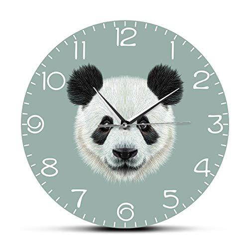xinxin Wanduhren Riesenpanda Porträt Wanduhr Chinesischer Schatz Cartoon Panda Bär Hängende Uhr Stille Wanduhr Nettes Tier Home Decor