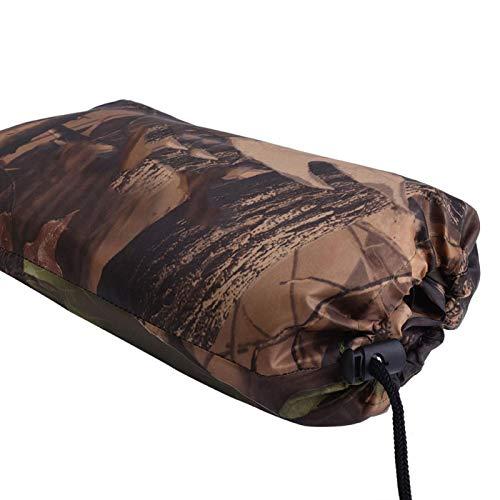 Jacksing Cubierta de Lona, Tienda de campaña de Camuflaje Plegable Cubierta de Lluvia Toldo de Refugio Solar al Aire Libre con Bolsa de Almacenamiento para Acampar y(3 * 2.9 Meters)