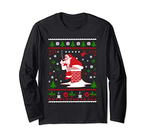 Pooping Santa Claus Ugly Christmas Sweater Long Sleeve T-Shirt