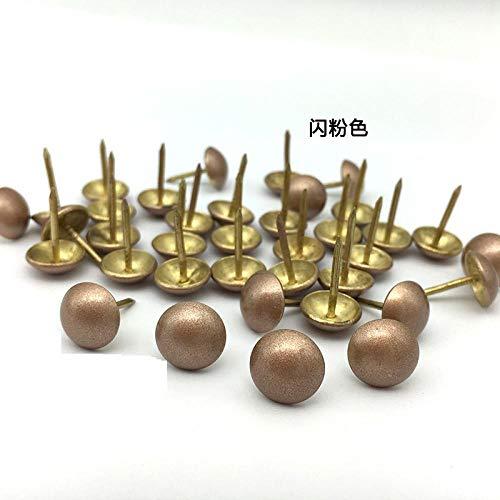 Antike Nägel, dekorative Nägel, runde Nägel aus Kupfer, dekorative Reißnägel, erweiterte spezielle Softpack-Nägel-14MM * 17MM grüne Patina (100 Stück)