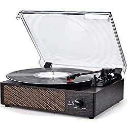 Wockoder KD-2008 - Best Record Player With Speakers