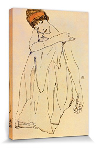 1art1 Egon Schiele - Die Tänzerin, 1913 Bilder Leinwand-Bild Auf Keilrahmen   XXL-Wandbild Poster Kunstdruck Als Leinwandbild 120 x 80 cm