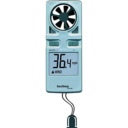 Technoline Windmesser EA 3000, Grau, 3,8 x 1,7 x 9,8 cm