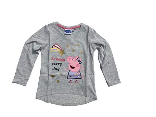 Peppa Pig-Peppa Wutz Langarmshirt mit Glitzerdruck (104, Grau)