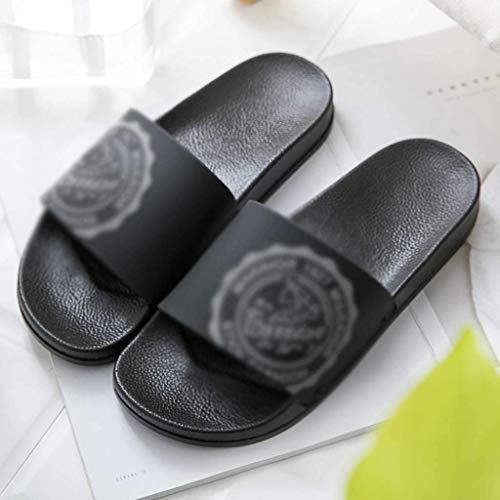 TQQ Zapatillas de Baño Niño Zapatillas De Baño Sandalias De Hombre Y Zapatillas De Verano Inicio Casa Interior Baño De Baño Sandalias Desgaste del Hogar Zapatos Antideslizantes Sandalias De Ducha