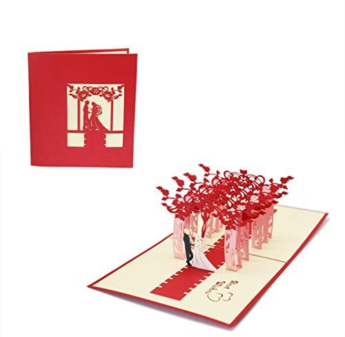 バレンタイン メッセージカード 飛び出すカード 記念日カード グリーティングカード ポップアップカード 立体 3D ウエディング 結婚祝い 結婚式 招待状 席札 プロポーズカード