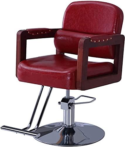 Sedia da barbiere, sedia da salone per parrucchiere, sedia per parrucchiere, sedia idraulica multiuso per lo styling del barbiere, attrezzatura per il salone di bellezza, rosso (colore: rosso)