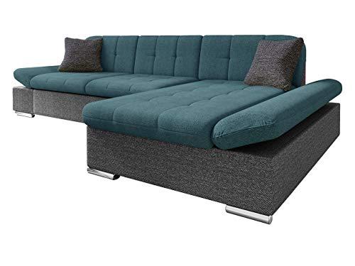 Mirjan24 Ecksofa Malwi mit Regulierbare Armlehnen Design Eckcouch mit Schlaffunktion und Bettkasten, L-Form Sofa vom Hersteller, Couch Wohnlandschaft (Boss 12 + Enzo 155 + Boss 12, Ecksofa: Rechts)