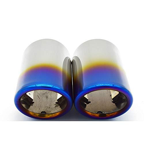OPIUYS Accesorios de la cubierta del tubo del silenciador de la extremidad del escape del coche,Accesorios externos del coche,Para VW Passat CC 2011-2014