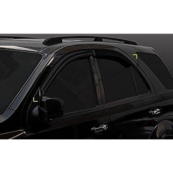 ClimAir 3963 D/éflecteurs lat/éraux Toyota HiLux Double Cab 2016 Smoke