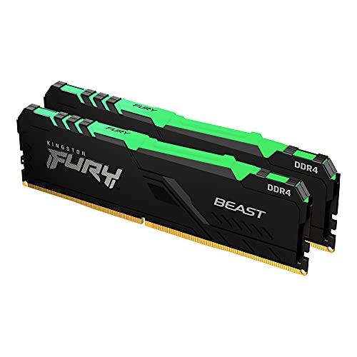 Kingston FURY Beast RGB 16GB (2x8GB) 3200MHz DDR4 CL16 Memoria para Ordenadores de sobremesa Kit de 2 KF432C16BBAK2/16