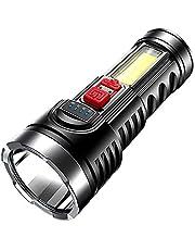 YUYDYU LED El feneri, Usb Şarj Edilebilir Dış Mekan Acil Durum Işığı, Süper Parlak, Cep Boyutu. Kamp, Bisiklet, Koşu, Köpek Yürüyüşü ve Daha Fazla Dış Mekan Kullanımı İçin Uygundur