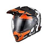 Origine Casco de Motocross Todo Terreno Casco Integral ECE 22-05 Aprobado para Protectores de Casco Para Downhill MTB Quad Enduro ATV (Tour Orange Black,L)