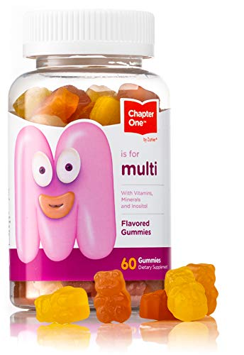 Chapter One Multivitamin Gummies, Great Tasting Multivitamin for Kids with Vitamin C, Vitamin D3, Zinc and More, Certified Kosher (60 Flavored Gummies)