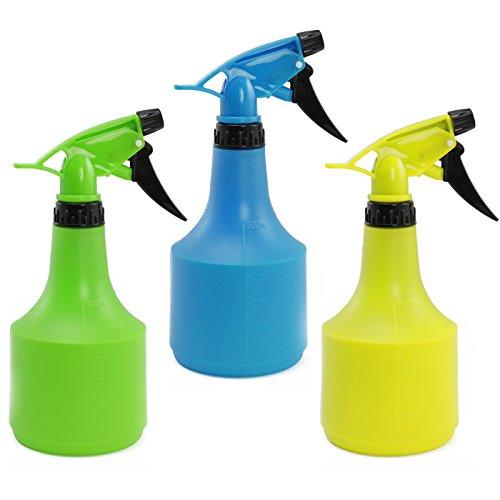 com-four® 3X Blumensprüher in bunten Farben für mindestens 0,5 Liter, für Friseure oder zur Bewässerung Ihrer Pflanzen (0.5 Liter)