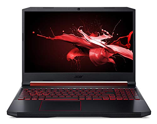 Acer Nitro 5 (AN515-43-R5KH) 39,6 cm (15,6 Zoll Full-HD IPS 120 Hz matt) Gaming Laptop (AMD Ryzen 5 3550H, 8 GB RAM, 512 GB PCIe SSD, NVIDIA GeForce GTX 1650, Win 10 Home) schwarz/rot