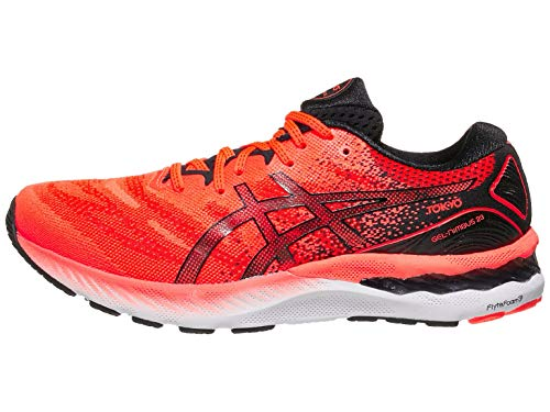 ASICS Men's Gel-Nimbus 23 Tokyo Running Shoes, 12M, Sunrise RED/Black