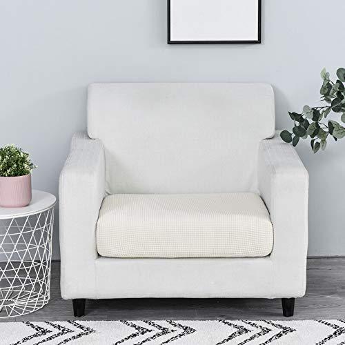 Funda de sofá Color sólido Protector Funiture Jacquard Grueso del sofá cojín del sofá Fundas de colchón Asiento Protector Funda elástica (Color : Cream, Specification : 1pc Normal Size 4)