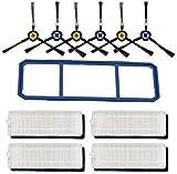 Repuesto de cepillo lateral de filtro de repuesto para aspiradora Ecovacs Deebot N79 N79S Conga Excellence 990, repuesto para aspiradoras Ecovacs Deebot N79 N79S Conga Excellence 990 (Negro)