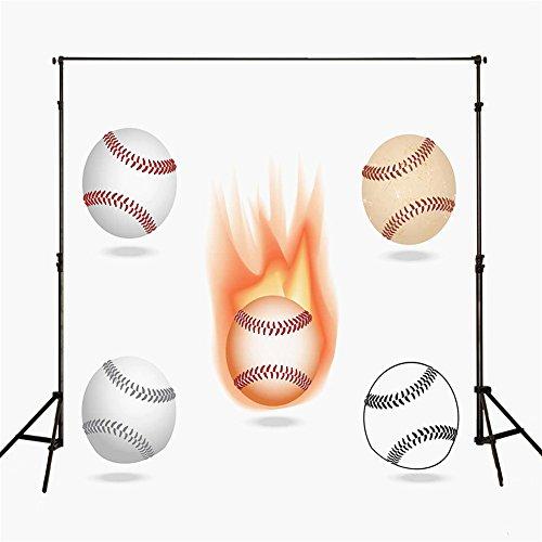 5x 7fotografía telón de fondo blanco fuego Softball fondo para estudio fotográfico recién nacido personalizados fondo de estudio para niños