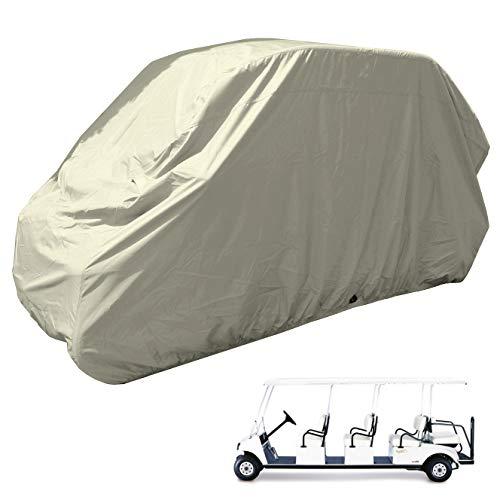 Golf Cart 8 Seater Storage Cover fits EZGO, Club Car, Chrysler/Polaris GEM e6 or Yamaha Model - Taupe