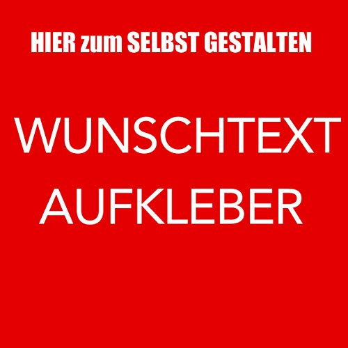 Wunschtext Beschriftung Auto Aufkleber klebende Buchstaben selbst gestalten mit Vorschau - 60cm Länge