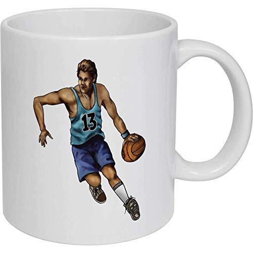 Taza de café, taza de té, jugador de baloncesto taza de cerámica, regalo para mujeres y hombres