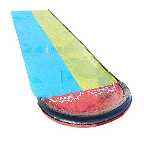 ZXY 45.0 cm * 40.0 cm * 10.0 cm Surf Tobogán de Agua Doble Césped Toboganes de Agua para niños Piscina de Verano Juegos para niños Juguetes Divertidos Patio Trasero Wave Rider al Aire Libre,480x140cm