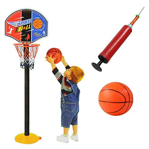Daxoon Basketball Ständer Spielzeug Höhenverstellbar Basketballkorb Tragbare mit Pumpe für Kinder Indoor- und Outdoor Aktivitäten