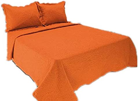 All For You 2pc Reversible Quilt Set Bedspread And Coverlet Orange Color Orange Twin Home Kitchen