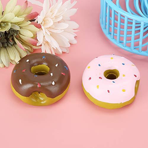 wosume 【𝐅𝐫𝐮𝐡𝐥𝐢𝐧𝐠 𝐕𝐞𝐫𝐤𝐚𝐮𝐟 𝐆𝐞𝐬𝐜𝐡𝐞𝐧𝐤】 Latex Hundespielzeug, Pink Donut Shape Hundekauspielzeug, 2PCS Chewing Pet für Hundehundezähne Interaktives Training