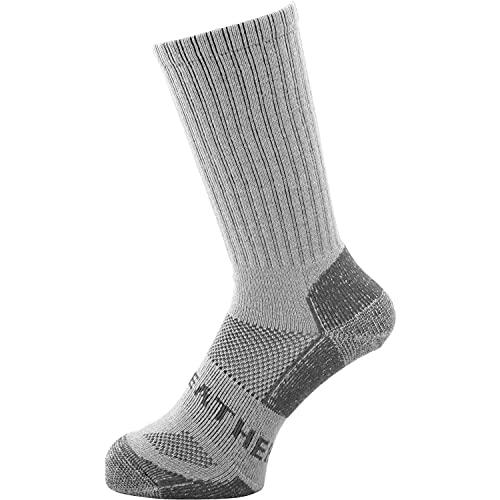 [ラドウェザー] 登山 靴下 メリノウール 99%抗菌で防臭 吸水 速乾 中厚手 暖かい あたたかい 防寒 靴下 メンズ レディース 登山用靴下 (グレー, L)