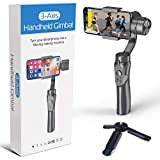 2022 Upgraded Handheld 3-Axis Smartphone Gimbal Stabilizer, Great for Vlog Youtuber Live Video Record, for iPhone & Android, Tripod Included