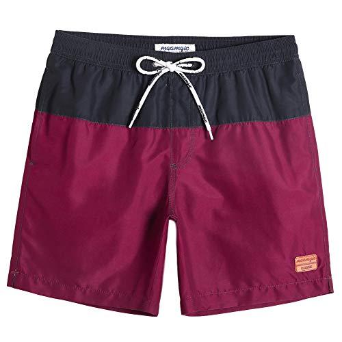 MaaMgic Herren Badehose Jungen Badeshorts Sporthose Schnelltrockend Sport Schwimmhose mit Mesh in vielen Farben, Größen XS - 2XL