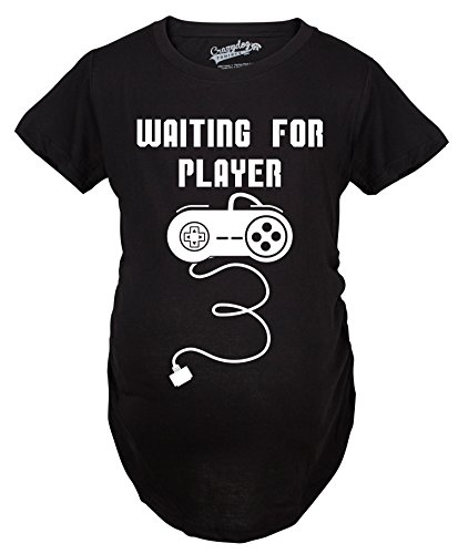 Crazy Dog T-Shirts Maternity Waiting for Player 3 Funny Im Pregnant Shirt...