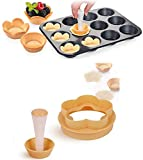 【Pastry Dough Tamper kit 】Beautiful Pastry Shells in Minutes – Create smooth, flawless pastry shells instantly and hassle-free. 【Seamless Crust Thumping】Seamless operation on thumping down crust for accurate filling. 【Beautiful Pastry Shells in Minut...