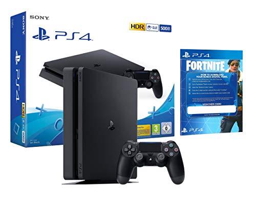 PS4 Slim 500Gb schwarz Playstation 4 Konsole + Fortnite: Royal Bomber Pack [inkl.500 vbucks]