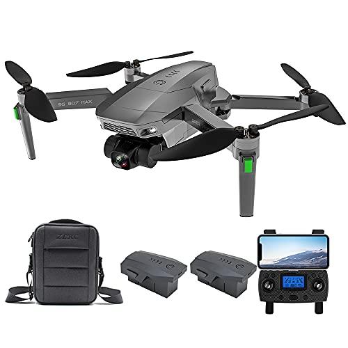 Entrega en 3~7 Días, ZLL SG907 MAX GPS Drone con Cámara 4K HD, Cardán Mecánico de 3 Ejes, Distancia de Control de 800m, 5.8Ghz WiFi FPV Dron Adultos, 26Minutos Profesional Quadcopter (2 Pilas)