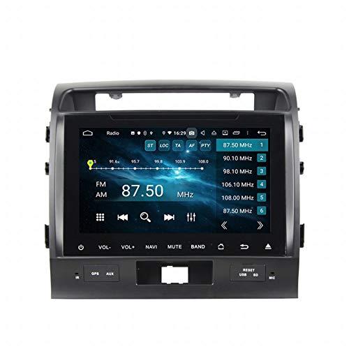 WHL.HH para Land Cruiser 2008-2012 Androide 10 Auto Radio DVD Multimedia Jugador GPS Navegación IPS Tocar Pantalla Navegación por satélite Cabeza Unidad Apoyo SWC Bluetooth Video Receptor