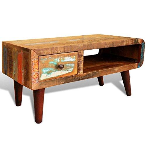 Lingjiushopping Table basse ancienne en Bois de recuperation Materiau: Bois de recuperation Taille:9 x 45 x 45 cm(L x P x H)